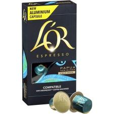 """Jacobs Douwe Egberts Kávékapszula, 10 db,  """"L`OR Pápua Új-Guinea"""" kávé"""