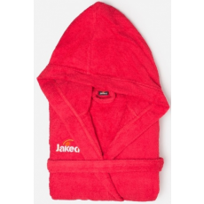 Jaked Basic Terry Bathrobe Red XXL
