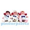 Játékbaba téli ruhában - funkciós