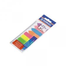 Jelölőcímke műaanyag címke és nyíl 8x25 lap neon DONAU D7579 információs címke
