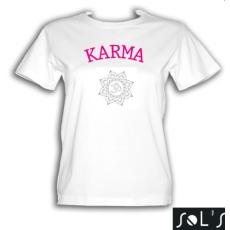 Jógamánia Karma fehér színű póló