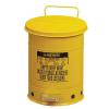 Justrite Fém szemetes kosarak gyúlékony és veszélyes anyagokra, térfogata 34 l, Kapacitás: 34 L, Anyag: fém, Szín: Sárga, Típus: pedálos, Modell: szabadon álló%