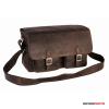 Kalahari Fotós táska és kameratáska bőr KAAMA L-28, valódi bőr oldaltáska, válltáska bivalybőr sz...