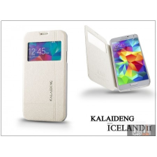 Kalaideng Samsung SM-G900 Galaxy S5 flipes tok - Kalaideng Iceland 2 Series View Cover - white tok és táska