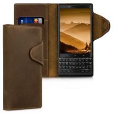 kalibri Blackberry KEYtwo bőr flip tok - barna tok és táska