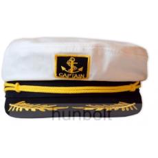 Kapitány sárga zsinóros,fix 57 méretű sapka
