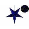 Karácsonyi dísz - csillag időzítővel 60 cm - 10 LED, kék