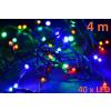 Karácsonyi LED világítás 4m - színes, 40 dióda