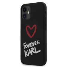"""Karl Lagerfeld KLHCP12SSILKRBK 12 mini iPhone 5.4 """"fekete kemény tok Szilikon Mindig Karl telefontok tok és táska"""