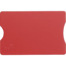 Kártyatartó RFID védelemmel, műanyag, piros