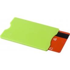 Kártyatartó RFID védelemmel, műanyag, világoszöld