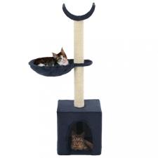 Kék macskabútor szizál kaparófákkal 105 cm macskafelszerelés
