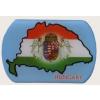 Kék műgyantás angyalos hűtőmágnes Hungary felírattal(7,5*5 cm)