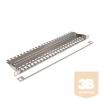 KELine KEP-EMPTY-HD HD Patch panel 0,5U, ezüst, üres, 24 db csatlakozó számára