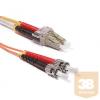 KELine POM3D-LCST-010 Duplex LC-ST patch kábel, OM3 50/125 µm, 1 méter