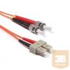 KELine POM3D-STSC-010 Duplex ST-SC patch kábel, OM3 50/125 µm, 1 méter