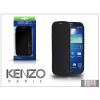 Kenzo Samsung i9500 Galaxy S4 flipes bőrtok - Kenzo GlossyCox - black