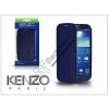 Kenzo Samsung i9500 Galaxy S4 flipes bőrtok - Kenzo GlossyCox - blue