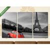 Képáruház.hu Citroen Kacsa az Eiffel-torony lábánál(125x70 cm, L01 Többrészes Vászonkép)