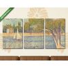 Képáruház.hu Georges Seurat: A Szajna a Grande Jatte szigeténél(125x60 cm, L02 Többrészes Vászonkép)