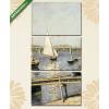 Képáruház.hu Gustave Caillebotte: Vitorlások Argenteuil-nál(125x60 cm, L02 Többrészes Vászonkép)