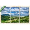 Képáruház.hu Premium Kollekció: Badacsonyi-hegység a Balaton mellett(125x70 cm, L01 Többrészes Vászonkép)