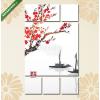 Képáruház.hu Premium Kollekció: Keleti szent sakura cseresznyefa és két halászhajó benne (135x80 cm, W01 Többrészes Vászonkép)