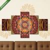 Képáruház.hu Premium Kollekció: Mandala Ancestral world(135x70 cm, S01 Többrészes Vászonkép)