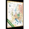 Képáruház.hu Premium Kollekció: Political Map of Europe Retro Colors(20x30 cm, vászonkép)