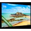 Képáruház.hu Premium Kollekció: Saint Malo Fort National and rocks, low tide. Brittany, France.(30x20 cm, vászonkép)
