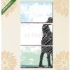 Képáruház.hu Premium Kollekció: Sketch of dancing couple. Vector illustration(125x60 cm, L02 Többrészes Vászonkép)