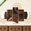 Képáruház.hu Premium Kollekció: Snail Shell on white. 3D illustration(135x70 cm, S01 Többrészes Vászonkép)