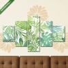 Képáruház.hu Premium Kollekció: Tropical seamless pattern with leaves. Watercolor background wit(135x70 cm, S01 Többrészes Vászonkép)