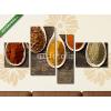 Képáruház.hu Premium Kollekció: various kinds of spices(125x70 cm, S02 Többrészes Vászonkép)