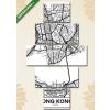 Képáruház.hu Premium Kollekció: Vektor poszter térkép városa Hong Kong(135x70 cm, S01 Többrészes Vászonkép)