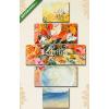 Képáruház.hu Premium Kollekció: Virágcsokor vázában festmény(135x70 cm, S01 Többrészes Vászonkép)