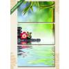 Képáruház.hu Premium Kollekció: Zen kövek, rózsa és bambusz vízben(125x70 cm, L01 Többrészes Vászonkép)