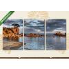 Képáruház.hu Sziklás tengeri öböl(125x60 cm, L02 Többrészes Vászonkép)