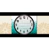 Képáruház.hu Vászonkép óra, Premium Kollekció: Absztrakt geometriai banner(25x25 cm, C01)
