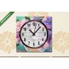 Képáruház.hu Vászonkép óra, Premium Kollekció: Oil painting of spring lilac in a vase on canvas, art work(25x25 cm, C01)