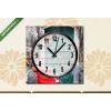 Képáruház.hu Vászonkép óra, Premium Kollekció: Red scooter(25x25 cm, C01)