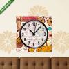 Képáruház.hu Vászonkép óra, Premium Kollekció: Vector set of Paris symbols(25x25 cm, C01)