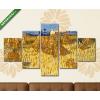 Képáruház.hu Vincent Van Gogh: Aratás Provence-ban(135x70 cm, S01 Többrészes Vászonkép)