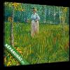 Képáruház.hu Vincent Van Gogh: Hölgy a kertben(30x20 cm, vászonkép)