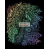 Képkarcoló készlet karctűvel - 20x25 cm - Szivárványos - Páva