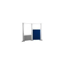 . Kétoldalas  (szürke/kék) textil display panel, 90x120 cm irodai kellék