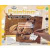 Kifestő készlet akrilfestékkel, ecsettel, gyerekeknek 11 éves kortól - 30x40 cm - Afrikai oroszlán