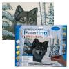 Kifestő készlet akrilfestékkel, ecsettel, gyerekeknek 11 éves kortól - 30x40 cm - Hófarkas