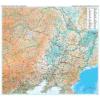 Kína észak-keleti része falitérkép - GiziMap