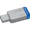 Kingston 64 GB USB 3.0 Ezüst-Kék Pendrive  (DT50/64GB)